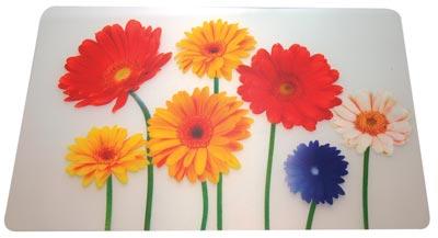 Plastové prostírání na stůl Květiny 43 x 28 cm, TORO