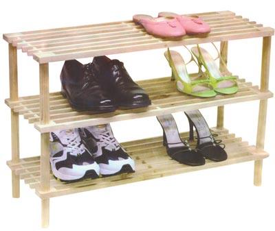 Botník - dřevěný botník - 3 patra