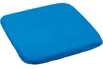 Sedák na židli modrá 38 x 38 cm