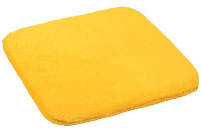 Sedák na židli žlutá 38 x 38 cm