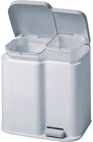 Odpadkový koš na tříděný odpad 21 L, 40 x 30 x 40 cm.