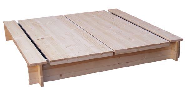 Dětské dřevěné pískoviště s poklopem Adodo 756, 120x120x20cm