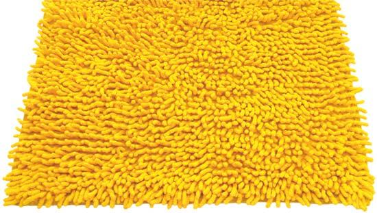 Koupelnová předložka CHENILL 50 x 70 cm, žlutá