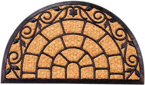 Rohožka Noris půlkruh 45 x 75 cm