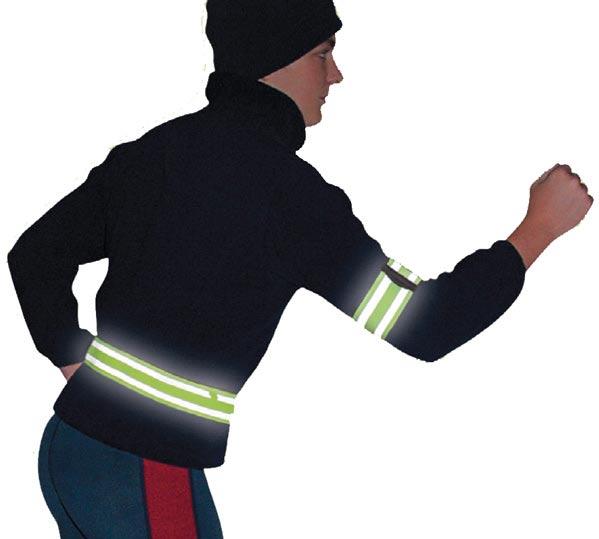 Reflexní pásky pro chodce a na kolo 61 x 4 cm, 2ks Fortel