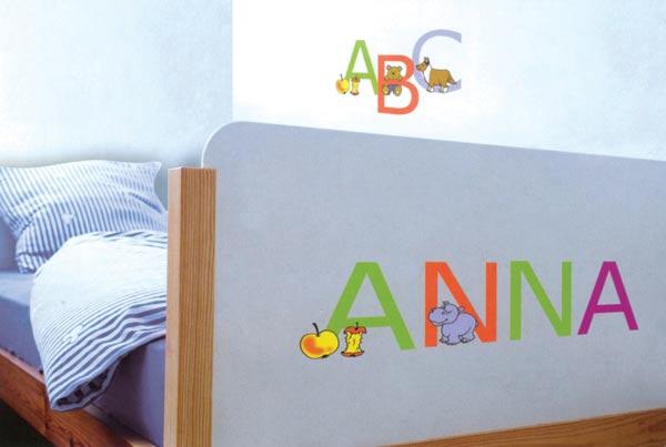 Dekorace na zeď - abeceda