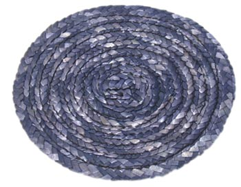Prostírání kulaté pr. 11 cm, sláma - modrá, Fortel
