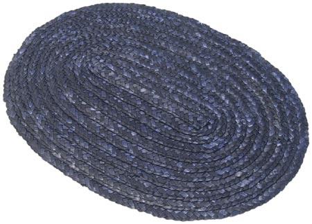 Prostírání z barvené slámy oválné 24 x 35 cm, modrá