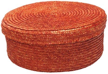 Chlebník Retro polstrovaný kulatý s ubrouskem pr. 26 cm, skořicová, Fortel