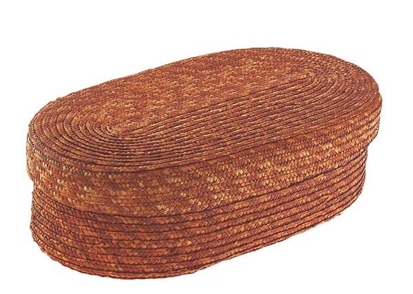 Chlebník polstrovaný oválný, skořicová