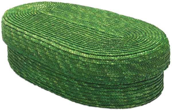 Chlebník polstrovaný oválný, zelená