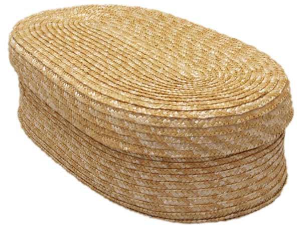 Chlebník polstrovaný oválný, přírodní