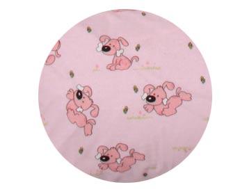 Ochranný mantinel Pejsek 360 x 28 cm - růžová