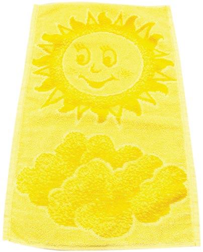 Ručník dětský froté Sluníčko 50 x 30 cm, žlutá