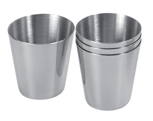 Nerezové pohárky na panáky - sada 4 pohárků CUP SET III