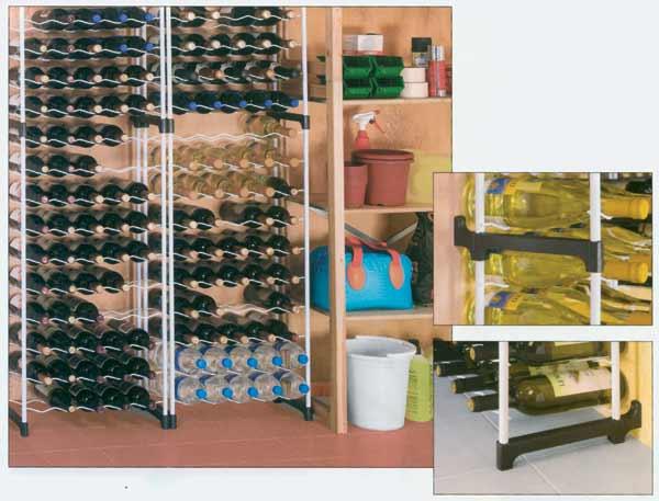 Stojan na víno CHIANTI 30 lahví - kovový
