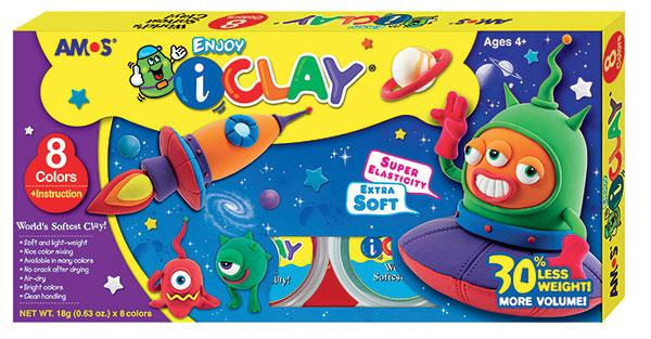 I - Clay modelovací hmota 8 barev