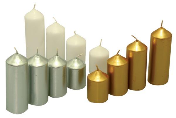 Adventní svíce, stříbrná