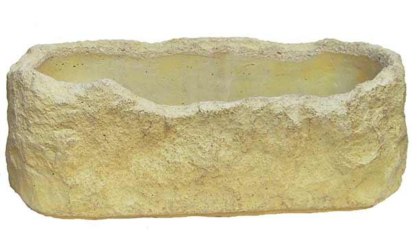 Betonové květináče - žlab oválný střední 45 x 20 cm, Fortel