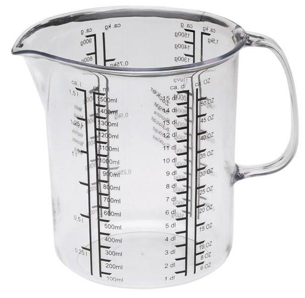 Plastová odměrka do kuchyně 1 L