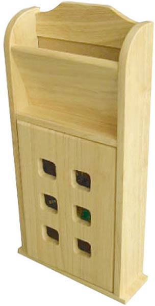 Skříňka na klíče a schránka