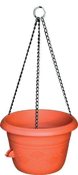 Žardina samozavlažovací Siesta + kov. závěs - terakota, pr. 30 cm