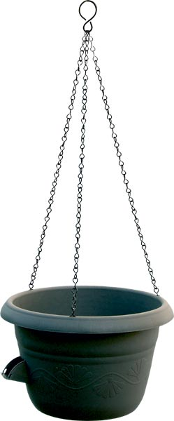 Žardina samozavlažovací Siesta + kov. závěs - antracit, pr. 30 cm