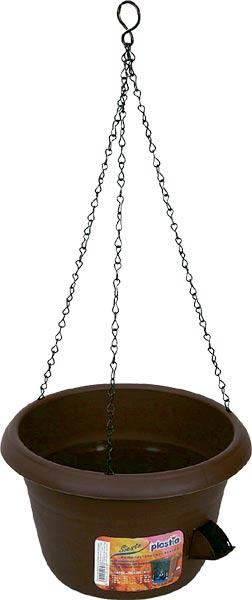 Žardina samozavlažovací Siesta + kov. závěs - čokoládová, pr. 30 cm