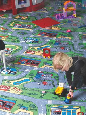 Dětský koberec City Life, 200 x 200 cm