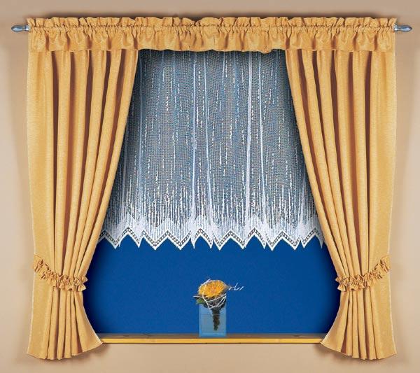 Záclona žakarová s řasící stuhou ALEXA II - 400 x 180 cm