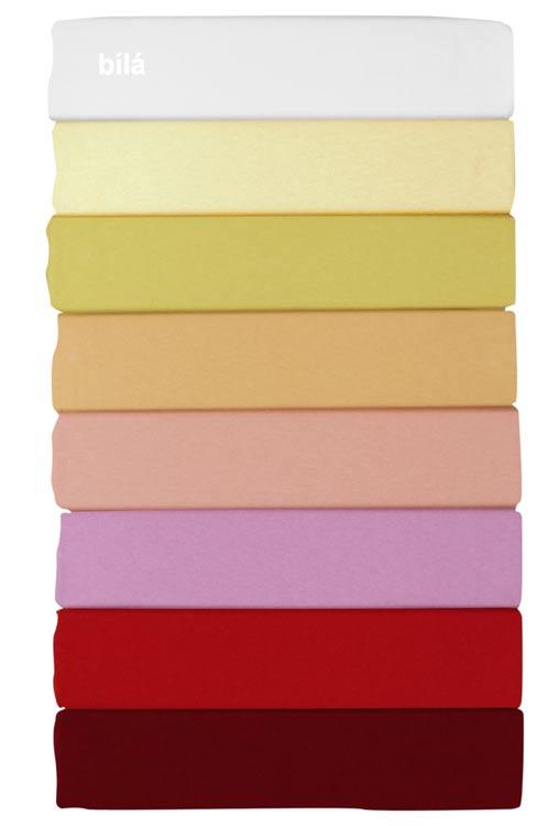 Prostěradlo jersey - bílá, 90 x 200 cm, Dadka