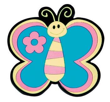 Podtácky - motýl modrý