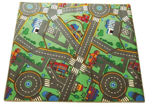 Dětský koberec Město, 95x200cm
