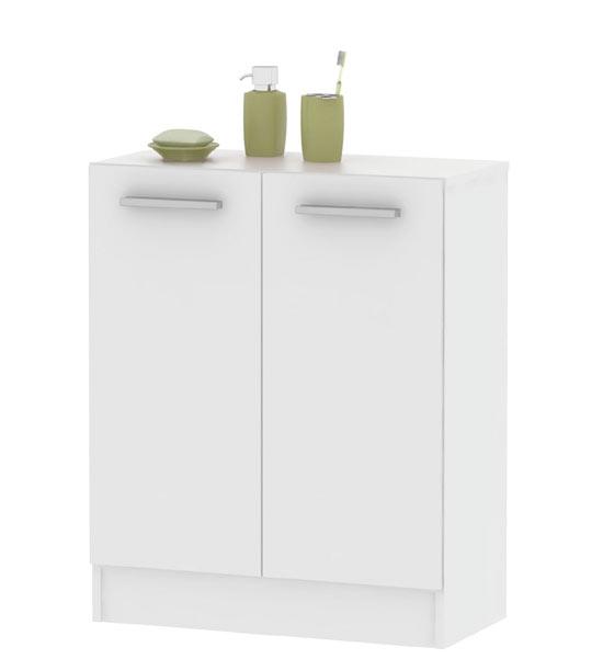 Koupelnová skříňka dvoudvéřová spodní SI06, bílá
