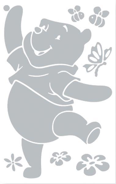 3D přetíratelné dekorace Medvídek Pú - vel. L