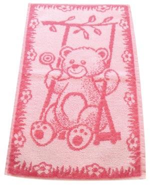 Ručník dětský froté Medvídek - růžová