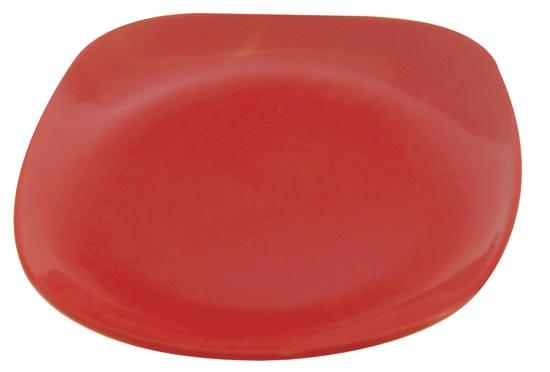 Talíř dezertní - červený