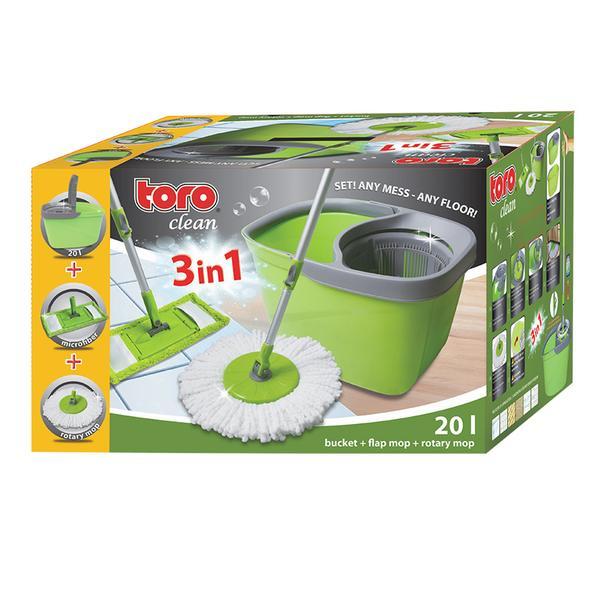 Mop set TORO Tornádo 20L kbelík + dva druhy mopů