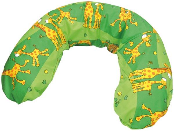 Povlak na kojící polštář - žirafa zelená