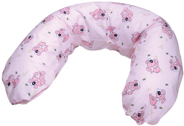Povlak na kojící polštář - pejsek růžová