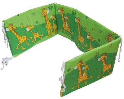 Ochranný mantinel Žirafa 360 x 28 cm., zelená