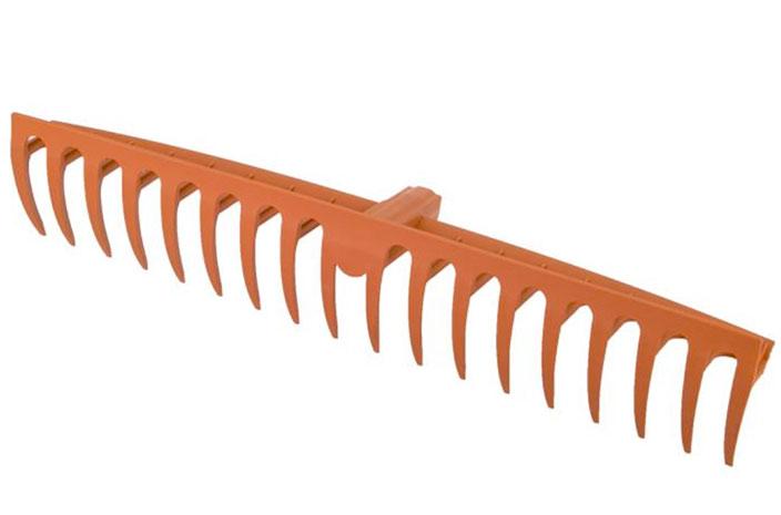 Hrábě na trávu 18 zubů zahradní nářadí Click systém 58 cm