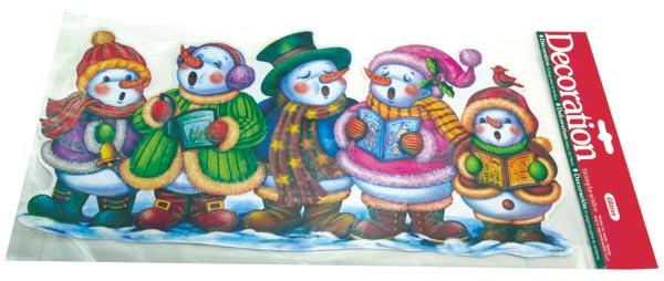 Okenní fólie - zpívající sněhuláci