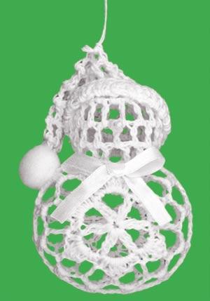 Háčkovaný sněhuláček