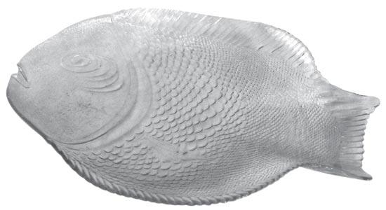 Skleněný tác ryba 25 x 35 cm, Banquet
