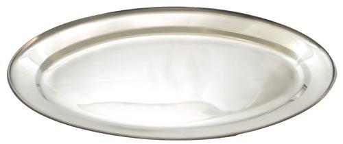 Nerezový tác ovál 30 cm