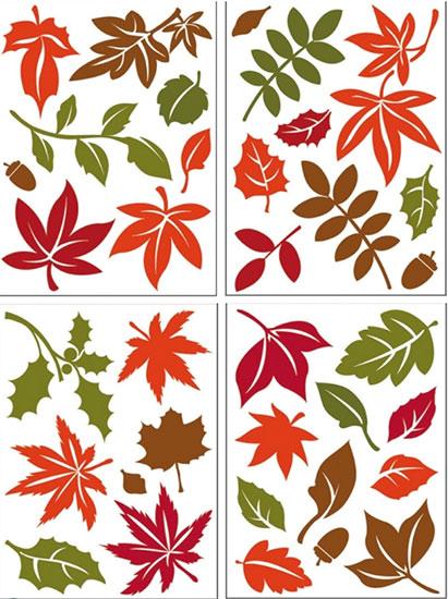 Samolepící dekorace - Podzimní listí