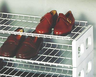 Dvoupatrový stohovatelný regál na boty - 78 cm