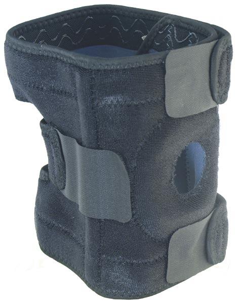 Neoprenová kompresní bandáž na koleno s výztuhou BN303, otevřená