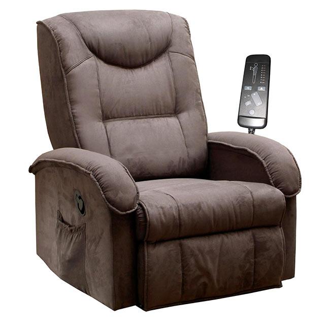 Relaxační křeslo masážní BOB K38, hnědé